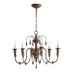 Quorum 6316 Salento Chandelier French Shabby Chic Farmhouse Candle NEW $309.99