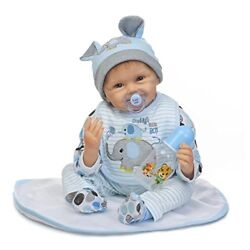 ZIYIUI Reborn Baby Doll Soft Simulation Silicone Vinyl 22inch 55cm Magnetic Mout