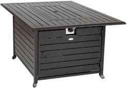 LPG Fire Pit Table 49 in. x 35 in. Stainless Steel Burner Fire Glass Provided
