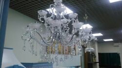 Bronze  crystal chandeliers