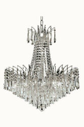 Elegant Lighting 8032D24CSS Victoria Collection 11-Light Hanging Fixture wit...