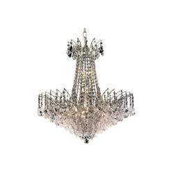 Elegant Lighting 8033D24CSS Victoria Collection 11-Light Hanging Fixture wit...