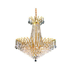 Elegant Lighting 8033D24GSS Victoria Collection 11-Light Hanging Fixture wit...
