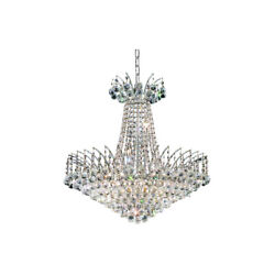 8031 Victoria Collection Chandelier D:24in H:24in Lt:11 Chrome Finish (Swarov...