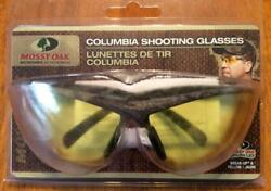 Mossy Oak Columbia Shooting Glasses - Yellow Lens Camo Frame 99% Uv Filter