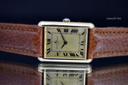 MEN'S BAUME&MERCIER 37077 TANK STYLE SOLID 18K YELLOW GOLD MANUAL WIND TIMEPIECE