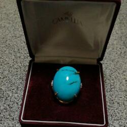 18 gold turquoise ring