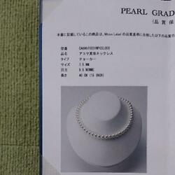 Exhibition end Akoya pearl necklace earrings in 1215 (A4772