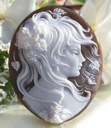 Leaf girl shell cameo loose dancing in the style (A7385