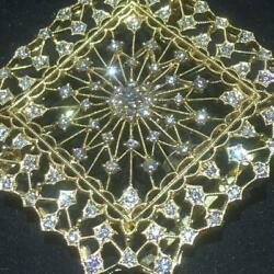 Diamond and k18 brooch or pendant top