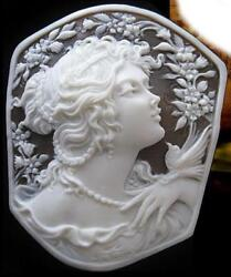 High tower La Torre highest rank shell cameo loose a sculpture