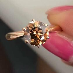 2ct Copper pink irradiation lot Brown diamond k18 PG ring appraisal papers