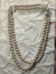Pearl Akoya necklace two consecutive 6.8mm & 7.2mm
