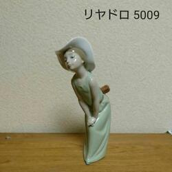 Lladro Lydador 5009 Young Grass Colored Girl In Front Of The Mirror