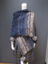 45rpm wool alpaca & cashmere scarf NEW with TAG retail price 1990 us$