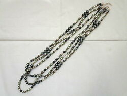 CHANEL 2017 'Cuba collection triple pearl long necklace A17C tki