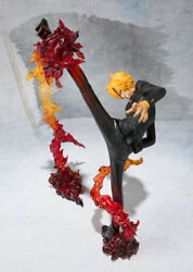 One Piece Vinsmoke Sanji Battle stance PVC Anime Figure Collection Toy In Box $15.50