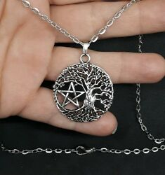 TREE OF LIFE PENTAGRAM PENDANT WICCAN PAGAN DRUID CELTIC NECKLACE