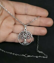 GODDESS EARTH MOTHER TREE OF LIFE PENDANT WICCAN PAGAN DRUID CELTIC NECKLACE