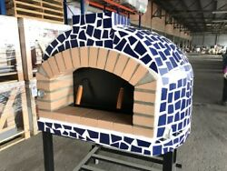Mosaic Tile Portuguese Brick Pizza Oven 3.0 Outdoor Wood Fired Pizza Oven