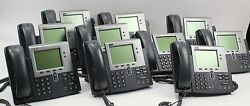 Lot of 10 Cisco IP Phone CP-7941G 2 Line VoIP Office Business Phones 48 VDC 7941