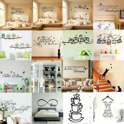 New Vinyl Home Room Decor Art Quote Wall Decal Stickers Bedroom Removable DIY C $3.54