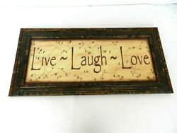 Live Love Laugh Framed Wall Hanging Sign  Shf4 $10.00