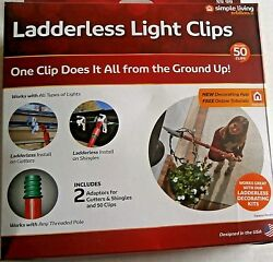 LADDERLESS LIGHT CLIPS Use With MiniC7 C9 Large LightsLedIcicle and More