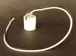 New Keyless Medium Base E26 Porcelain Socket With 18quot; Lead Wires And Hickey #716 $2.70