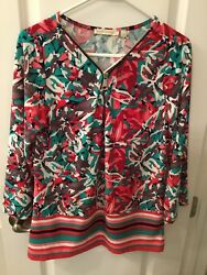 Maria Gabrielle Women's Knit Pull-over Bell Sleeve Top Size Large NWT $6.00