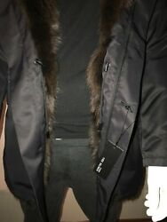 Yves Salomon Homme Army Parka coat natural fox fur lining was 6090 CAD