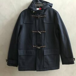 NWT Tommy Hilfiger Men's Wool Blend Hooded Toggle Duffle Coat Jacket $329.99 NEW