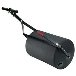 Combination Push Tow Poly Lawn Roller Durable Heavy Duty Steel w Rounded Ends
