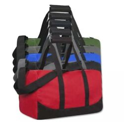 Lot Of 24 Duffle Bag Bags Travel Size Sports Gym Blank 17quot; Wholesale 5 Colors $165.00