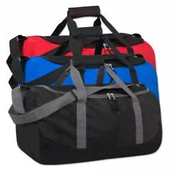 Lot Of 24 Duffle Bag Bags Travel Size Sports Gym Blank 20quot; Wholesale Bulk Lot $175.00