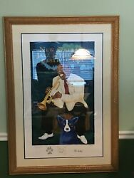1995 Louis Armstrong Blue Dog - Signed Numbered Remarked by George Rodrigue