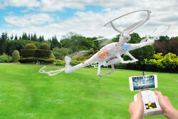 6 Axis Gyro Quadcopter Drone With HD Camera WIFI 4 Motor 2.4Ghz RC FPV UFO Gift $81.98