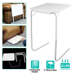 Portable Foldable Table Adjustable Tray Laptop Desk TV Dinner Bed Home Office $25.99
