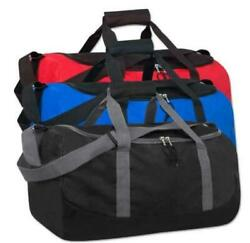 Lot of 24 Duffle Bag Bags Travel Size Sports Gym Bag 24quot; Multi Pocket Duffel Bag $249.99