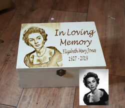 REMEMBRANCE MEMORY BOX beautifully engraved with a photo and choice of words