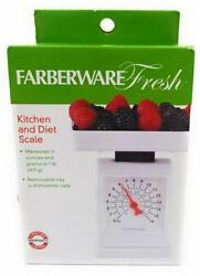 Farberware Fresh Kitchen and Diet Scale Measures Up to 1 lb. Dishwasher Safe $7.77