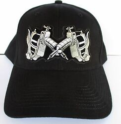 Tattoo Guns 100% Cotton Cap Hat Quality Embroidered Design biker Men's Shed