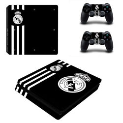 PS4 Slim Real Madrid Wrap Skin Sticker Console Skin Vinyl Decal #2728