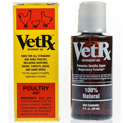 VetRX Poultry Aid for Respiratory Support 2fl oz 59ml $10.95