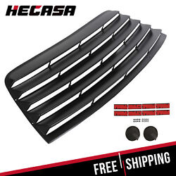 Fits 08 19 Dodge Challenger Window Scoop Louver Rear Sun Shade Cover Black ABS $108.90
