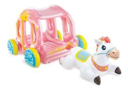 Intex Princess Carriage Playhouse Inflatable Play Center with Horse