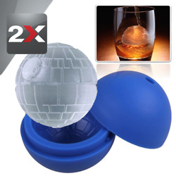 2x Silicone Ice Cube Tray Death Star Wars Ice Cube Ball Maker Silicone Mold 3quot; $11.99