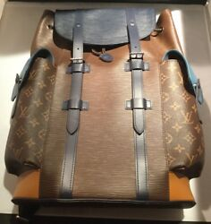 Louis Vuitton LV Christopher Monogram Epi Leather PM Patch Work Backpack Bag NEW