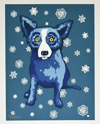 George Rodrigue Blue Dog She Left Me In The Cold Silkscreen Print Signed Artwork