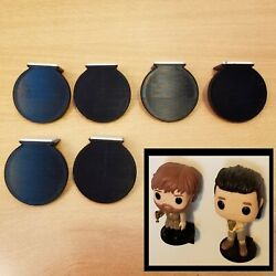 6 Pack Funko Pop Vinyl Figure Mini Wall Display Shelfs - Free Shipping – Black